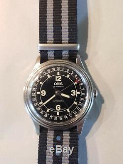 Vintage ORIS Pointer Date Automatic Calendar Watch with Box & 2 Straps nato 7403