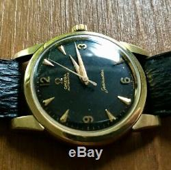 Vintage Omega 1950's Automatic Seamaster gold capped Jean Rousseau strap