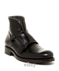 WOLVERINE 1000 MILE BOOT $350.00 MYLES DOUBLE MONK STRAP BOOT IN BLACK NEW WithBOX