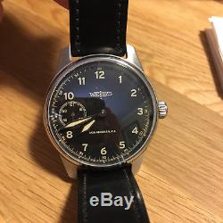 Weiss Watch Limited Issue Field Watch Black Dial with Black Leather Straps 2016