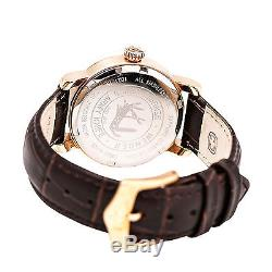 Wenger 01.1021.108 Women's White Dial Rose Gold Steel Black Leather Strap Watch