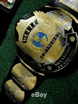 Wwf Winged Eagle Dual Plated Belt In 4mm Thick Bras Plate & Floppy Leather Strap