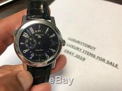 Zenith Elite Port Royal V Dual Time Aut. In Ss Black Dial With Leather Strap